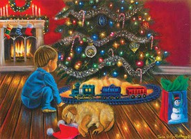 Train-Enthusiast Under the Tree Puz 1000pc