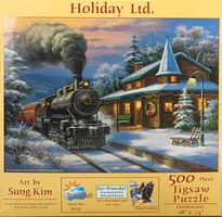 Train-Enthusiast Holiday Ltd Puzzle 500 pc