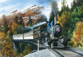 Train-Enthusiast Puzzle Autumn Mist 1000PC