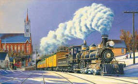 Train-Enthusiast Winter Arrival Puz 1000pc