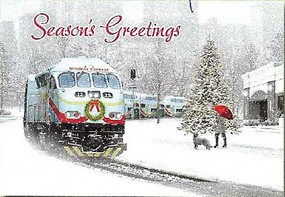 Train-Enthusiast Holiday Exprss Xmas Cards