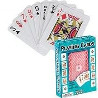Traditional Playing Cards Plastic Coated Card Game #4817