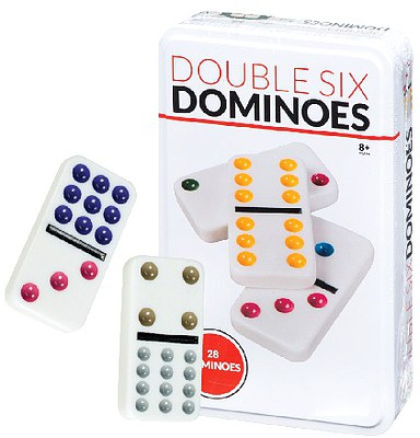 Traditional Games Double Six Standard Dominoes Basic Game (28pcs)