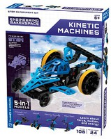 ThamesKosmos Kinetic Machines 5-in-1 Models STEM Experiment Kit