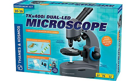 ThamesKosmos TK x 400i Dual-LED Microscope & Biology Kit