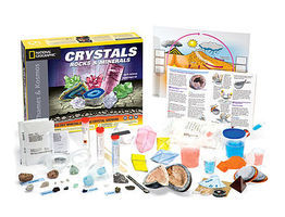 ThamesKosmos National Geographic Crystals, Rocks & Minerals Experiment Science Experiment Kit #642112