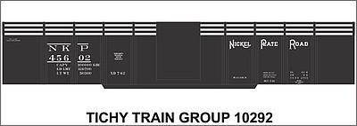 Tichy Train Group HO Nickel Plt 41'6' Gondla Dec