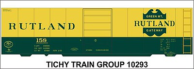 Tichy Train Group N Rutland 40' Stl Bxcar Decal
