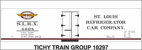 Tichy-Train HO SLRX 40 Wood Reefer Decal
