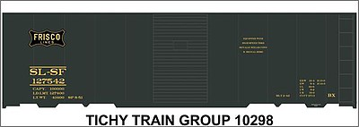 Tichy Train Group N SL-SF 40' Steel Boxcar Decal