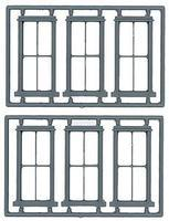 2/2 Double Hung Window 6 pieces O Scale Model Railroad Building Accessory #2014