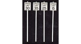 Tichy-Train Low Speed Limit Signs (8) O Scale Model Railroad Roadway Signs #2064