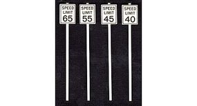 Tichy-Train High Speed Limit Signs (8) O Scale Model Railroad Roadway Signs #2065