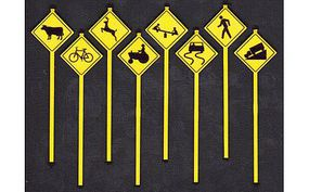 Tichy-Train Picture Warning Signs (8) O Scale Model Railroad Roadway Signs #2076