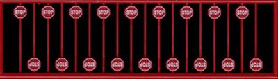 Tichy-Train Modern Stop Sign Red (18) N Scale Model Railroad Roadway Sign #2612