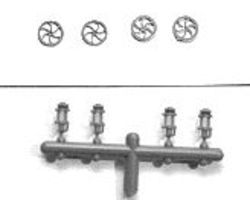 Tichy-Train Brake Wheel & Bracket HO Scale Miscellaneous Train Part #3003