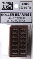 Tichy-Train Non-Operating Roller Bearings (36) HO Scale Model Train Part #3080