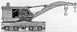 Tichy Train Group 120-Ton Industrial Crane Kit -- HO Scale Model Train Freight Car -- #4010