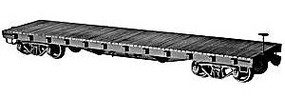 40' 50-Ton Flat Car ACF Kit HO Scale Model Train Freight Car #4021