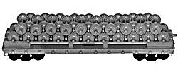 Tichy-Train 53 6 GSC Commonwealth Flatcar Undecorated HO Scale Model Train Freight Car #1000