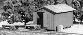 Tichy-Train Handcar Shed & Milk Station Kit HO Scale Model Railroad Building #7018