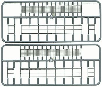 Tichy Train Group Open Grate Platform w/Handrails (2) -- HO Scale Model Railroad Building Accessory -- #8001