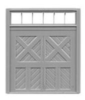 Tichy-Train Baggage Door 8 x 8 w/Transom (3) HO Scale Model Railroad Building Accessory #8038