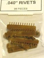 Tichy-Train .040 Dia Rivets (96) HO Scale Model Train Part #8075