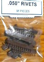 Tichy Train Group .050'' Dia Rivets (96) -- HO Scale Model Train Part -- #8076