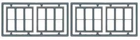 Tichy-Train 3-Unit 1/1 Double Hung Window (4) HO Scale Model Railroad Building Accessory #8094