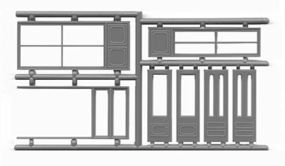 Tichy-Train Storefront Windows & Door Set (2) HO Scale Model Railroad Building Accessory #8117
