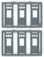 Tichy-Train 1-lite Door/Transom 3 sets HO Scale Model Railroad Building Accessory #8130