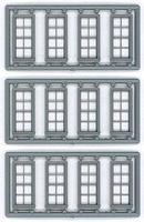 Tichy-Train 4/4 Doouble Hung Window 12 pieces HO Scale Model Railroad Building Accessory #8131