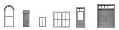 Tichy-Train 130 piece Window and Door Parts HO Scale Model Railroad Building Accessory #8134