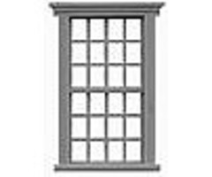 Tichy-Train 12/12 Double Hung Window (12) HO Scale Model Railroad Building Accessory #8136