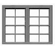Tichy-Train 4/4 Double Hung Window (6) HO Scale Model Railroad Building Accessory #8137