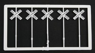 Tichy Train Group Railroad Crossing Warning Signs #2 (20) -- HO Scale Model Railroad Trackside Accessory -- #8178