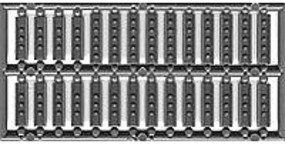 Tichy-Train 12 Steel Channel Splice Plates (54) HO Scale Model Railroad Building Accessory #8186