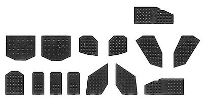 Tichy-Train Assorted Rivet Plates (28) HO Scale Model Railroad Building Accessory #8216