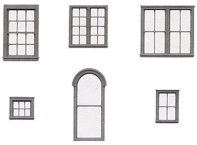 Tichy Train Group Styrene Window Assortment -- HO Scale Model Railroad Building Accessory -- #8219