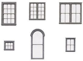 Tichy-Train Styrene Window Assortment HO Scale Model Railroad Building Accessory #8219