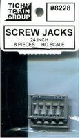 Tichy-Train Screw Jack - Unpainted pkg(8) HO Scale Model Railroad Building Accessory #8228