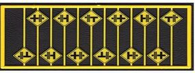 Tichy-Train Highway Grade Crossing Warning Signs (12) HO Scale Model Railroad Road Accessory #8252