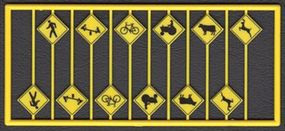 Tichy-Train Picture Warning Signs (12) HO Scale Model Railroad Road Accessory #8253
