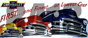 Tichy-Train HO Chevrolet First & Finest at Lowest Cost Vintage Billboard