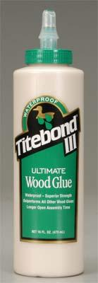 Titebond Wood Glue Titebond Ultimate Wood Glue III 16 oz