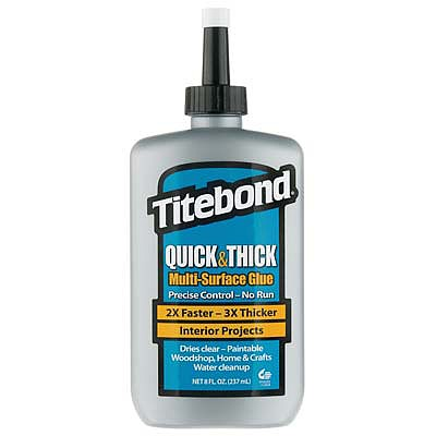 Titebond Wood Glue Titebond Quick/Thick Multi-Surface Glue 8oz