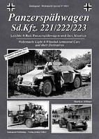 Tankograd Wehrmacht Special- Panzerspahwagen SdKfz 221/222/223 4-Wheeled Armored Cars & Derivatives