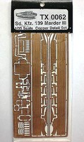 Trakz 1/35 SdKfz 139 Marder III Photo-Etched Detail Set (For TAM) (D)