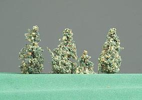 Timberline Northwoods Green Pine Trees 1/2 to 2 (6 Pack) Model Railroad Tree #101